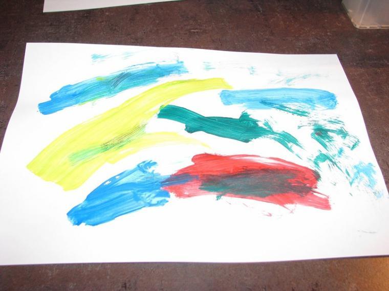 La 1ere peinture de camille :)
