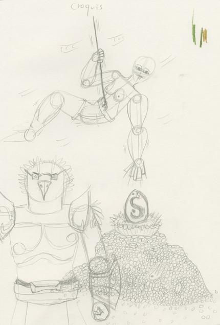 Dofus.. Concours de dessin : Comment obtenir de façon original un Dofus Émeraude.