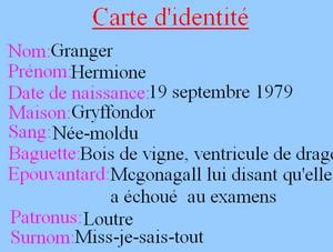 Personnage: Hermione jean granger