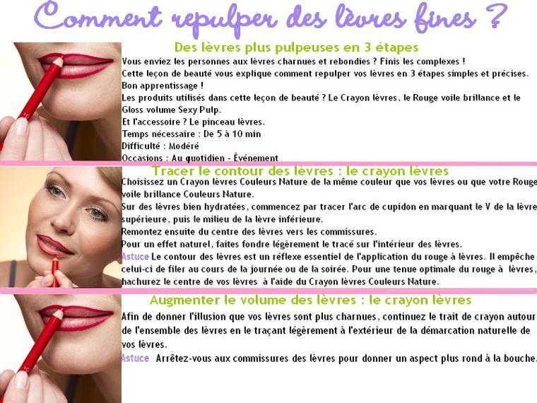 Comment repulper des lèvres fines ?