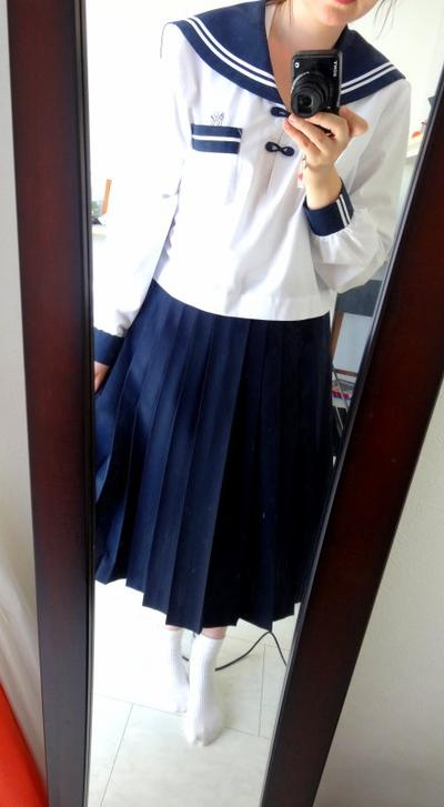 My first day in Japanese high school !  ^.^ (Mon premier jour au lycée japonais)