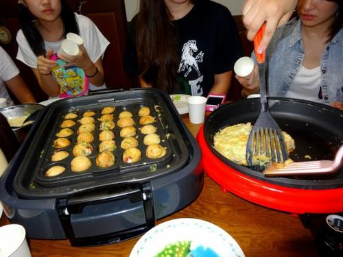 Takoyaki & Okonomiyaki Party with high school's friends ~  *o*
