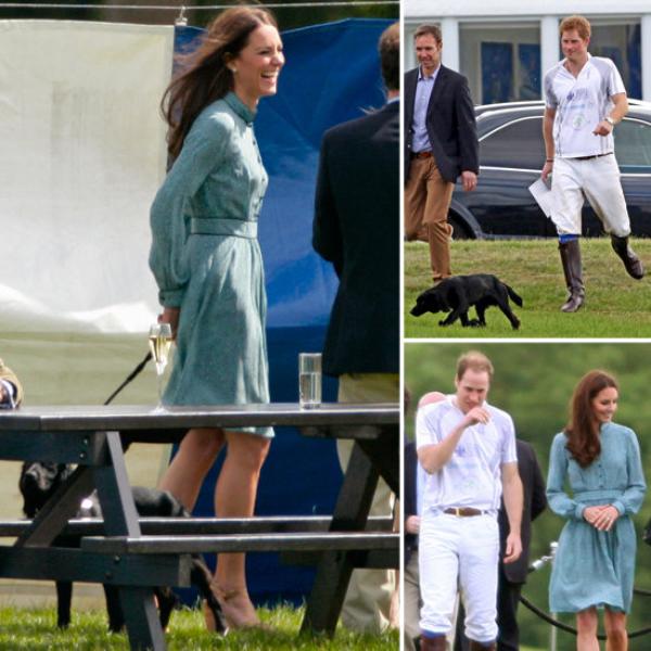 Kate à un match de polo