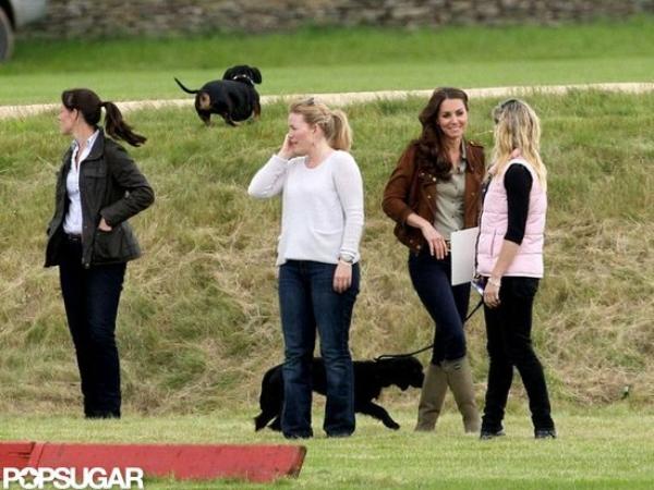 Kate soutient William pour un match de polo