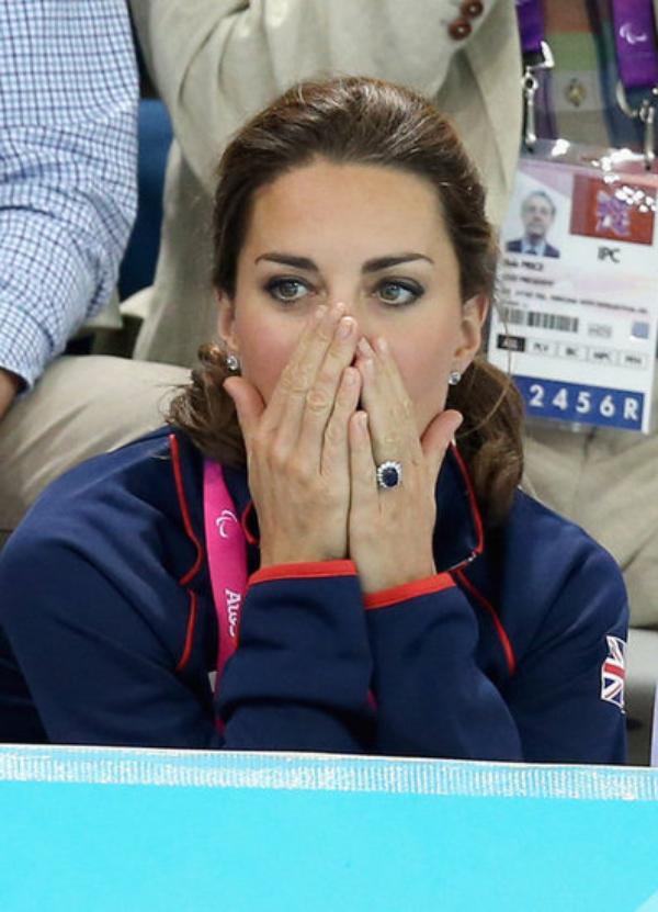 Kate pour des épreuves de natation des Jeux paralympiques.