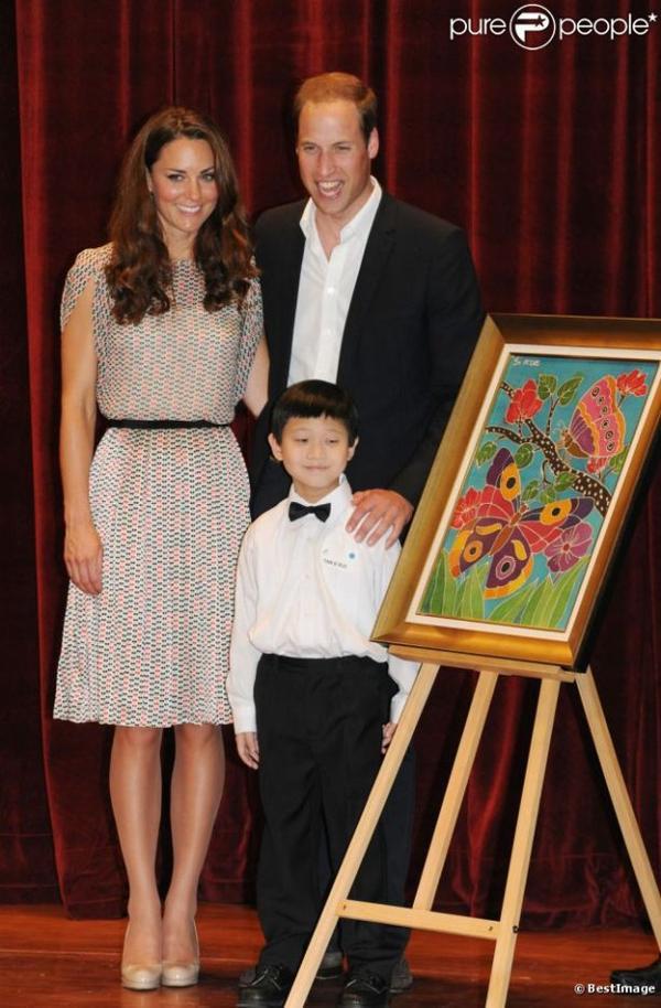 Kate et William avec les enfants
