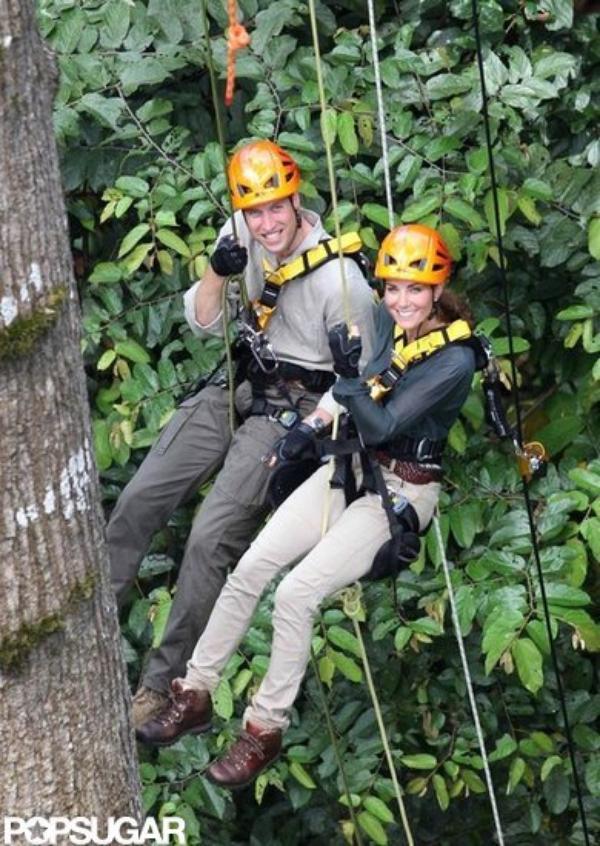 Kate et William, suspendus à 40m du sol