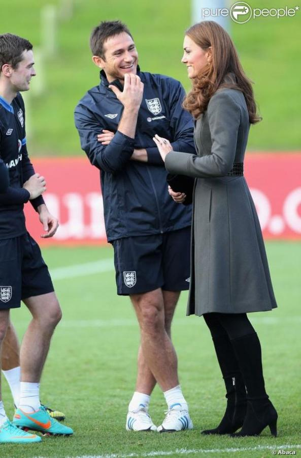 Kate et William avec l'équipe nationale de foot
