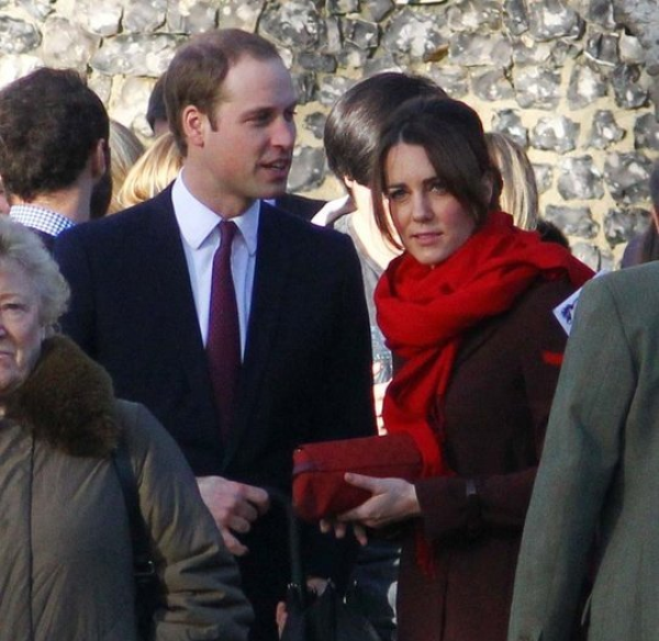 Kate et William à la messe de Noël