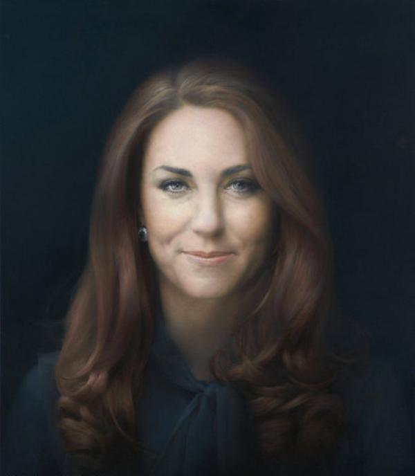 Kate et sa première peinture officielle