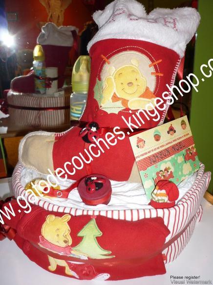 gâteau de couches spécial noël