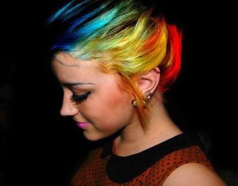 Colorful Emo Hairstyles | Emo Punk Indonesia | Beautiful Punk Haircut | Emo Punk Girls Hairstyles |