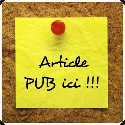 Article spéciale pub !