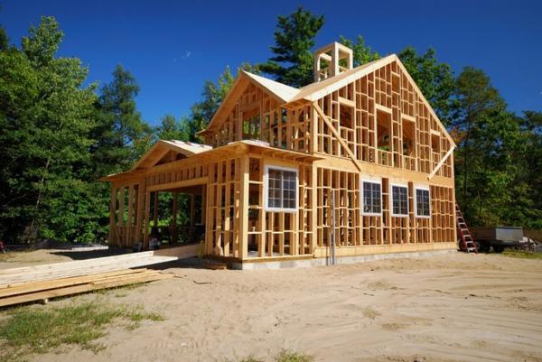 La maison à ossature bois.