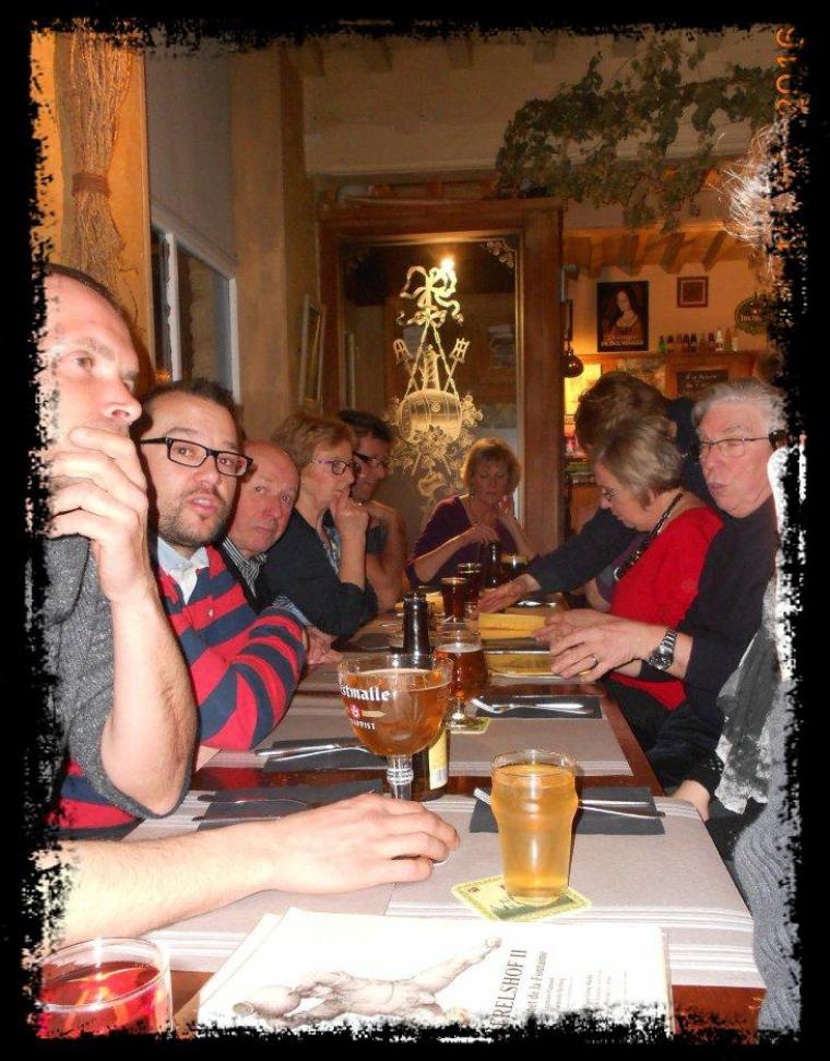 Repas du club cyclo à l'estaminet flamand KERELSHOF