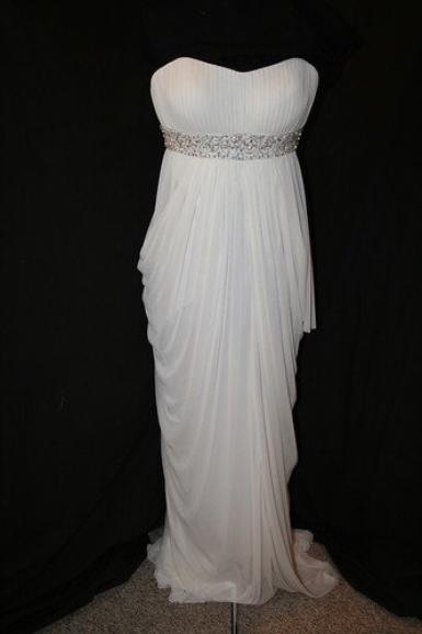 Magnifique robe du soir TONY BOWLS taille 38/40  drapée déesse grecque