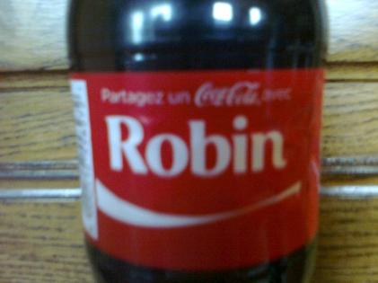 Partagez un Coca-Cola avec Robin