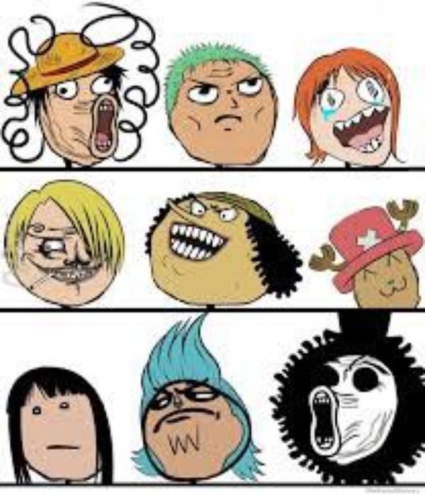 L'équipage au chapeau de paille en rage-comics