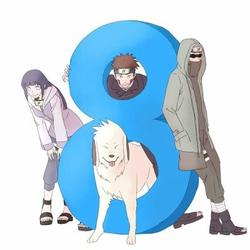 """La team 8 """"Hinata Shino Kiba et Akamaru"""""""