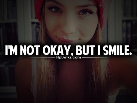 Ce n'est pas parce que je souris tout le temps que je vais forcément bien.
