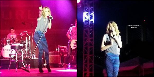 """. Le 15 juin 2013 : Bridgit était présente au concert donné par la radio """" 1019 Radio Now Rising Stars"""", a Memphis dans le Tennessee. Elle a signé des autographes et poser avec les fans  ."""