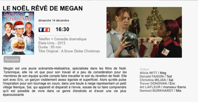 LE NOËL REVE DE MEGAN /A snow globe christmas 2013