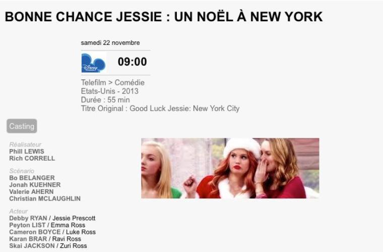 Bonne chance Jessie : Un Noël à New York