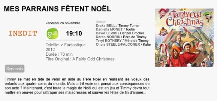 MES PARRAINS FÊTENT NOËL /A fairy odd Christmas 2012