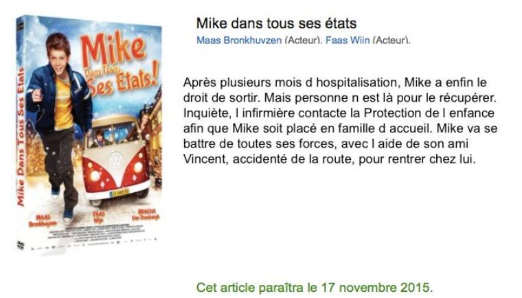 Mike dans tous ses états  / De groeten van Mike 2014