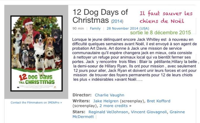 Il faut sauver les chiens de Noël  / 12 dog Days till  Christmas 2014