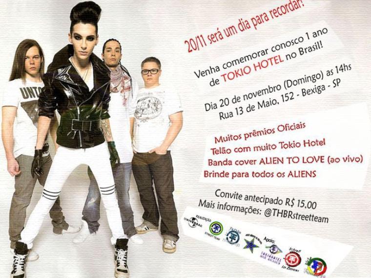 Party Organisé par la Street Team Brésil pour les 1 an de la venue de TH au Brésil - le 20 Novembre 2011 :D
