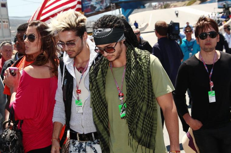 Bill et Tom au Moto GP au circuit de Laguna Seca, aux USA (29.07.12)