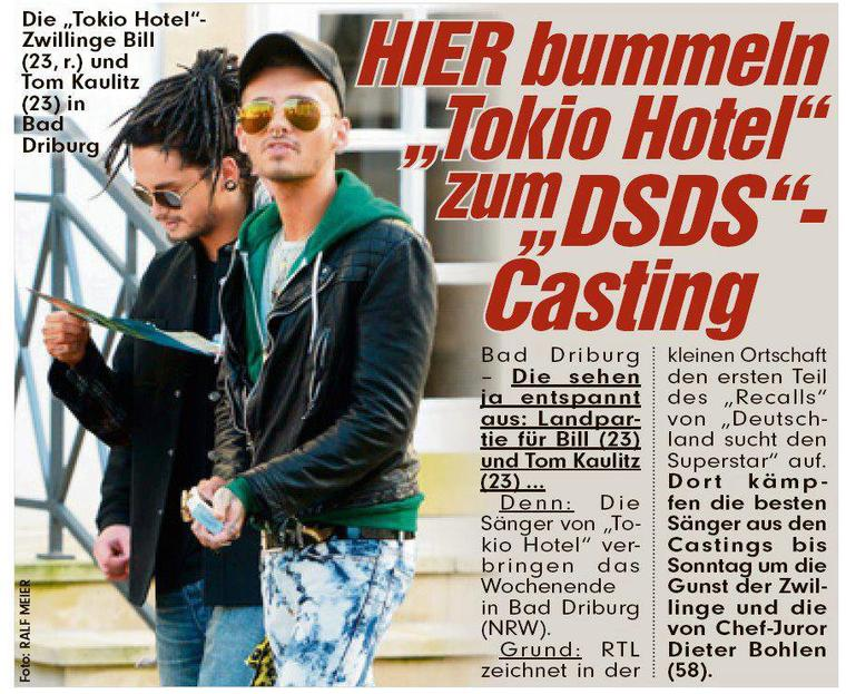 """""""BILD"""" du 20.10.2012 (Allemagne)"""