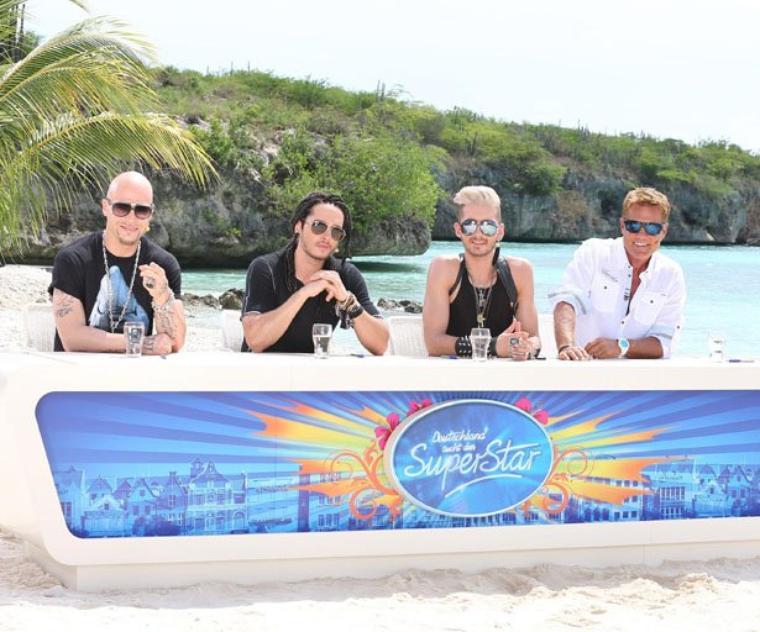 """Bill et Tom pendant le Recall de """"DSDS"""" à Willemstad, à Curaçao (6.11.12)"""