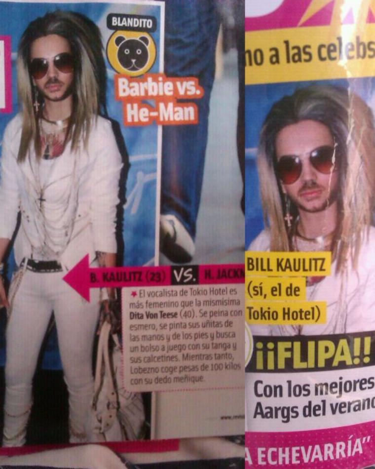 Bill est confondu avec Yvi dans le magazine Cuore (Espagne)