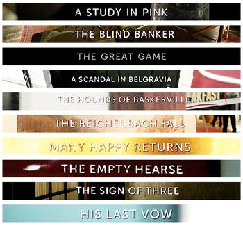 Mon Classement des Episodes de #Sherlock