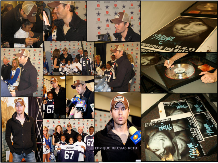 "Le 4 Novembre 2011, Enrique à l'Anniv de la ""Salvation Army Red"""