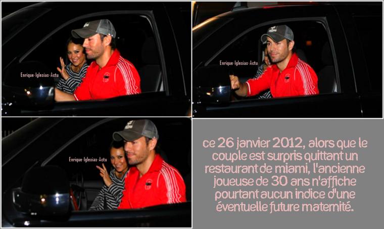 Enrique & sa chérie le 26 janvier 2012