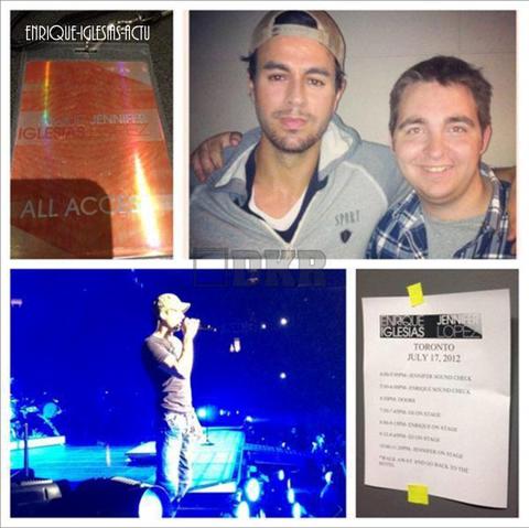 Enrique Jlo tour - Toronto (17 & 18 juillet 2012)