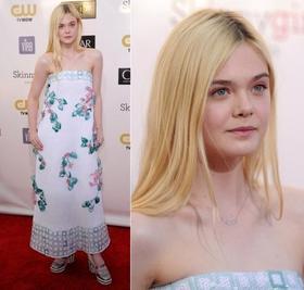 Elle Fanning aux Critics' Choice Movie Awards 2013 pour Chanel le 10/01.
