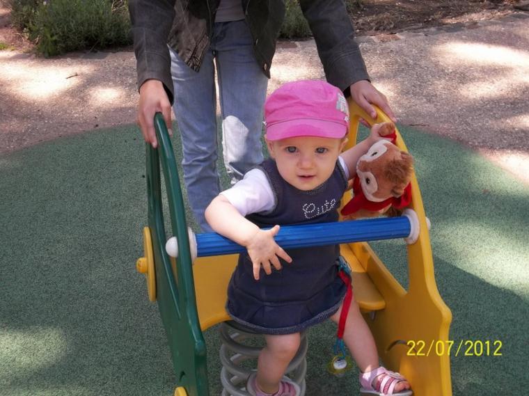 ma fille au parc