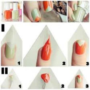 Tuto motifs  triangles  chic et très facile ! ♥ =D