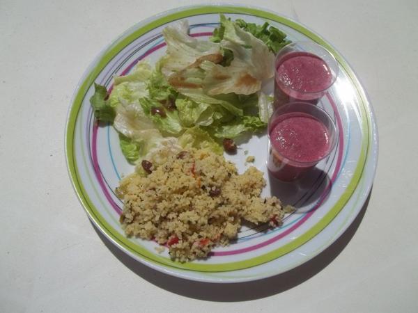 Une assiette composée pleine de fraicheur