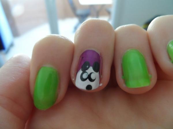 Un ptit nail art panda
