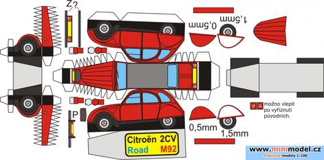 Citroën 2CV maquettes