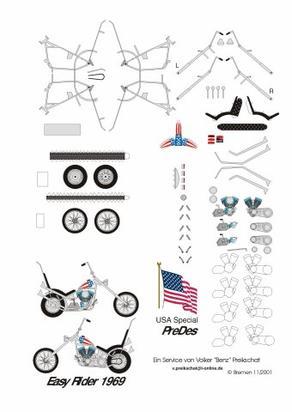"""Maquettes motos de """"Easy rider"""" 1969"""