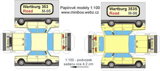 Maquettes Wartburg 353 et 353s