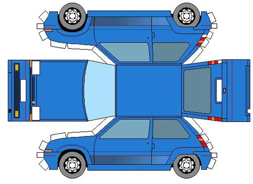 Renault Super 5 maquettes