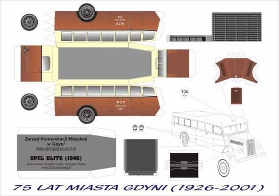 Opel Blitz Bus maquette