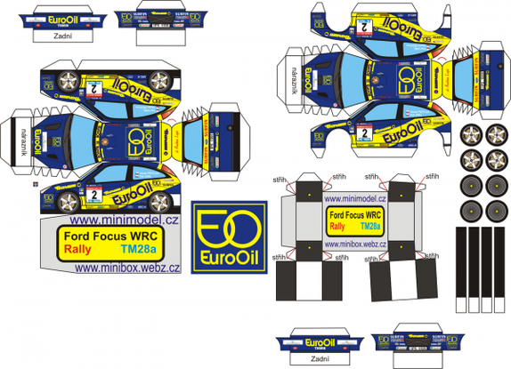 Ford Focus WRC rallye maquettes